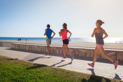 Running al Passeig Marítim de Miami Platja